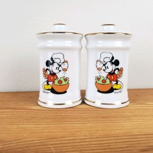 Vintage Disney Mickey Mouse salt + pepper shakers